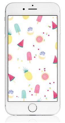 Free Iphone Wallpaper Eis, Melone und Ananas