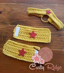 Wonder Woman Crown/Headband and Arm Braces