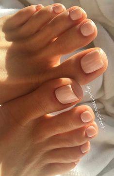 Nice toenails Gel Toe Nails, Feet Nails, Nude Nails, Coffin Nails, Toe Nail Polish, Pink Nails, Acrylic Toe Nails, Gel Toes, Silver Nails