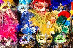 Máscaras de Venecia, carnaval.