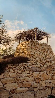 Watchtower at Tantur, land of Israel.