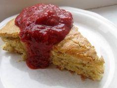 Orange-Almond Polenta Cake With Strawberries