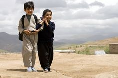 Boys from a village in rural northwestern Iran, on their way home from school. Their primary school building is nothing more than a building made from clay, furnished with a few plastic chairs and tables. But it still provides basic education to dozens of children living in the poor villages of the area.    www.undp.org  PHOTO: Alexander Nitzsche/UNDP Picture This