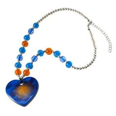 Violet Heart Beaded Pendant Necklace (Jewelry)  http://www.1-in-30.com/crt.php?p=B000FI0YS0  B000FI0YS0