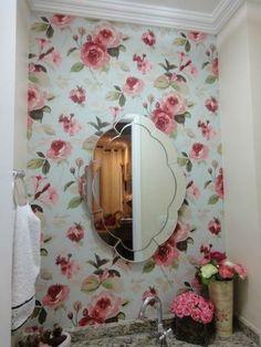 Você ainda pode colocar o tecido em apenas um pedaço pequeno de uma parede, como nesta foto: | 20 provas de que uma parede de tecido é o jeito mais fácil de transformar sua casa