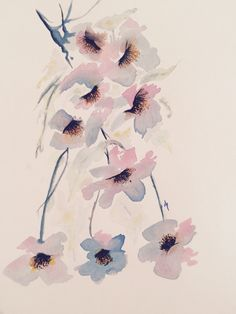 Far East flowers #watercolour #illustration #art #drawing #painting #flowers