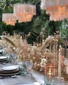 All aboard for the wedding decor trend that is making a sweep across the nation: wedding tassels! From fashion to table, there is no wrong way to incorporate this playful design element, and we cannot Wedding Table Centerpieces, Wedding Decorations, Table Decorations, Table Wedding, Whimsical Wedding Decor, Party Wedding, Quinceanera Centerpieces, Floral Centerpieces, Floral Arrangements