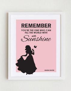 Disney Quote  Snow White by GreenSplashDesigns on Etsy, $10.00
