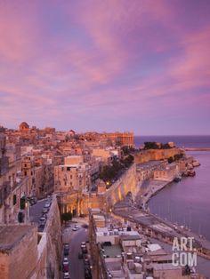 Malta, Valletta, City View from Upper Barrakka Gardens by Walter Bibikow. Photographic Print from Art.com, $29.99