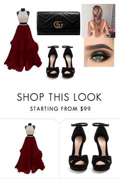 """Prom"" by shiaross ❤ liked on Polyvore featuring Alexander McQueen and Gucci"