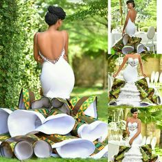 Custom Made Plus Size Bridal Gowns For 2019 traditionalwedding traditional wedding outfits African Prom Dresses, African Fashion Dresses, African Dress, African Style, African Wedding Attire, African Attire, African Weddings, African Wedding Theme, African Traditional Wedding Dress