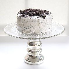Devil's Food Cake with Cookies n Cream Buttercream Frosting