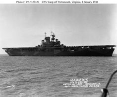 """USS Wasp (CV-7) - Wasp Class Aircraft Carrier   Ordered  Laid down  Launched  Commissioned  Decommissioned  Stricken    19 Sep 1935 1 Apr 1936 4 Apr 1939 25 Apr 1940   2 Nov 1942   Builder: Bethlehem Steel Corp., Quincy, Mass.     Named to commemorate seven US warships which had previously borne the name. A """"Wasp"""" is """"any of numerous winged hymenopterous insects possessing smooth, slender bodies, and an abdomen attached by a narrow stalk. They have well-developed wings, biting mouthparts,"""