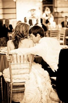 Romantic wedding photography ideas- love kiss on her shoulder