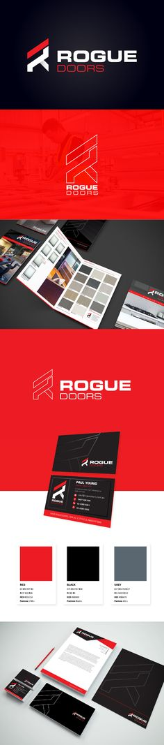 Our objective was to create a dynamic and adaptable brand identity that is versatile across a range of different platforms. Clean, angular edges were adopted to compliment Rogue Door's innovative and high-quality products & services. #logodesign #logoinspiration #logo #branding #branddesign #Rlogo #red #corporatebranding #brandidentity