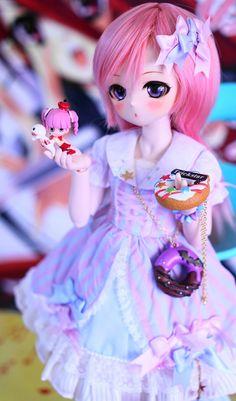 You are soo kawaii! Anime Dolls, Bjd Dolls, Doll Toys, Beautiful Barbie Dolls, Pretty Dolls, Kawaii Doll, Kawaii Anime, Anime Drawing Styles, Disney Animator Doll