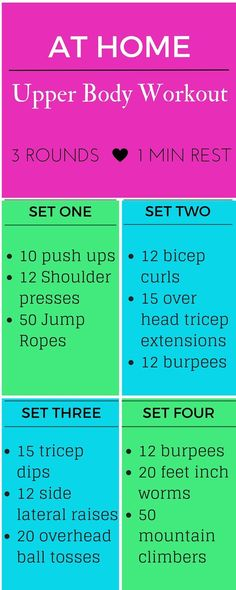If you're like me, and need to get in a  quick workout any way you can, try this quick 30 minute upper body workout for a great heart pumping calorie burn.