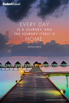 Travel quote from Matsuo Basho.