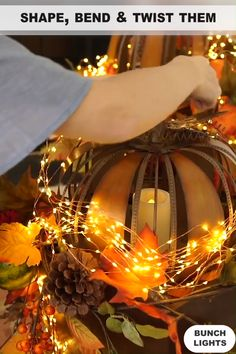 Our Firefly Bunch Lights have a flexible, bendable wire with warm white micro LEDs so you can create magical lighted designs. Simply shape, bend and twist them however you like – the lights can be used bundled or separate the individual strings to create Christmas Porch, Outdoor Christmas Decorations, Christmas Lights, Christmas Crafts, Wedding Decorations, Christmas Ornaments, Holiday Decor, Wedding Ideas, Holiday Lights