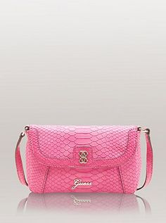 pink guess purse