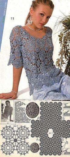 """Красивая блуза » Сайт """"Ручками"""" - делаем вещи своими руками"""