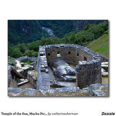 Temple of the Sun, Machu Picchu, Peru Postcard  #Inca http://www.zazzle.com/temple_of_the_sun_machu_picchu_peru_postcard-239905395685819777?rf=238577061362460707