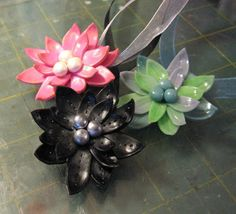 Faux Vinyl Flowers from Polymer Clay Tutorial by Kael Mijoy