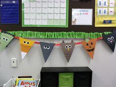 Cute halloween classroom decor