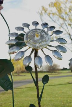 Spoon Art Flowers Metal   Spoon-flower
