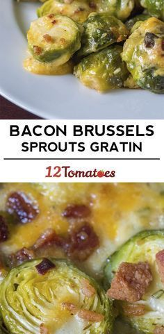 Keto and Low Carb Bacon Brussels Sprouts Gratin