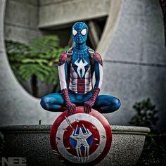Patriotic Cosplay - Captain Spiderman America | moviepilot.com