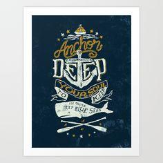 Anchor Deep Art Print by Nathan Yoder   Society6