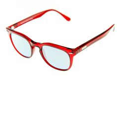 Spektre - MAS - Ruby Red with Silver Mirror Lenses. The combination is just to die for! Think of your lipstick ladies - the effect - accidently dramatic? The classic frame still stays in line with a somewhat more conventional statement...BUT the COLOR! Pow! There will be some guys out there that won't be able to stay away from this model as well.....you know who you are ;-) Bold and self confident and certainly not afraid of being an eye catcher!   100% Made in Italy Ruby Red, Catcher, Confident, Lenses, Lipstick, Italy, Eye, Sunglasses, Mirror