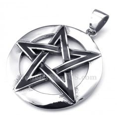 Five-pointed Star Titanium Pendant Necklace (Free Chain)