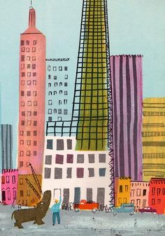 Roger Duvoisin (1900 – 1980) - Swiss-born American writer and illustrator. illustration, drawing, art, design, modern, mid-century, retro, vintage, children, picture, book