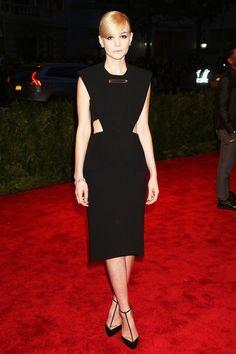 Carey Mulligan en robe Balenciaga par Alexander Wang au Met Gala à New York, le 7 mai 2013