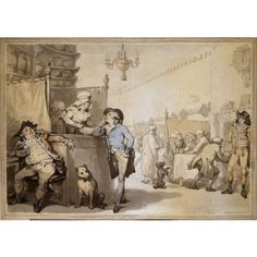 The Coffee House, 1790, Thomas Rowlandson