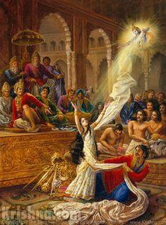 Mahabharata: krishna saves draped from humiliation