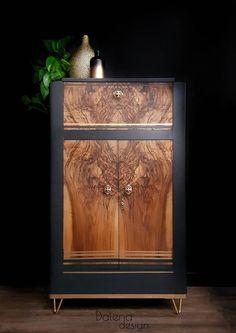 Walnut Furniture, Refurbished Furniture, Upcycled Furniture, Furniture Makeover, Vintage Furniture, Painted Furniture, Furniture Design, Diy Furniture Flip, Cabinet Furniture