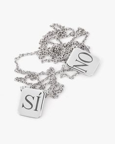 Billy! | SI•NO Edition Silver Tag Necklace