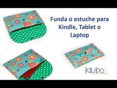 Cómo hacer una funda o estuche para Tablet, Kindle o Laptop / Clutch, de una manera muy sencilla - YouTube Reusable Sandwich Bags, Reusable Bags, How To Make Purses, Make And Sell, Clutch Bag Pattern, Sewing Crafts, Sewing Projects, Produce Bags, Fabric Bags