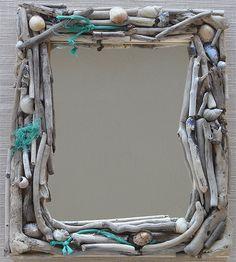 #driftwood #mirror for under the sea #bathroom