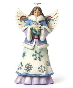 Jim Shore Snowflake Angel Figurine by Jim Shore #zulily #zulilyfinds