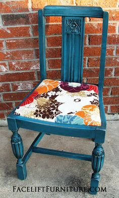 Peacock Blue Antique Chair - Facelift Furniture
