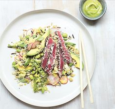 Tuna Sushi Salad And Wasabi Avocado Recipe