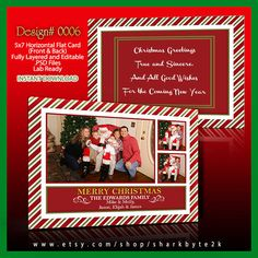 Christmas Card Template Photo Size X For Photoshop Psd