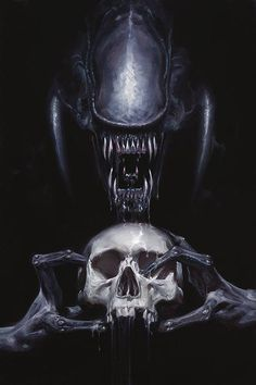 obsessedwithskulls: From Dark Horse Comics, in memory of H.R. Giger.