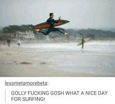 What A Nice Day For Surfing #funny #meme