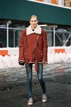 (via Vanessa Jackman: New York Fashion Week AW 2013….Marique) www.fashionfortheforecast.com #style #inspiration #whattowear #london #weather #forecast #fashionforecast