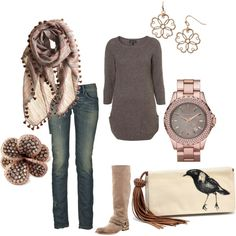 Really like this fall ensemble. This would have to be my going to The Woods Coffee shop ensemble! Style Me, Cool Style, Look Fashion, Womens Fashion, Fall Fashion, Vetement Fashion, Looks Cool, Swagg, Passion For Fashion
